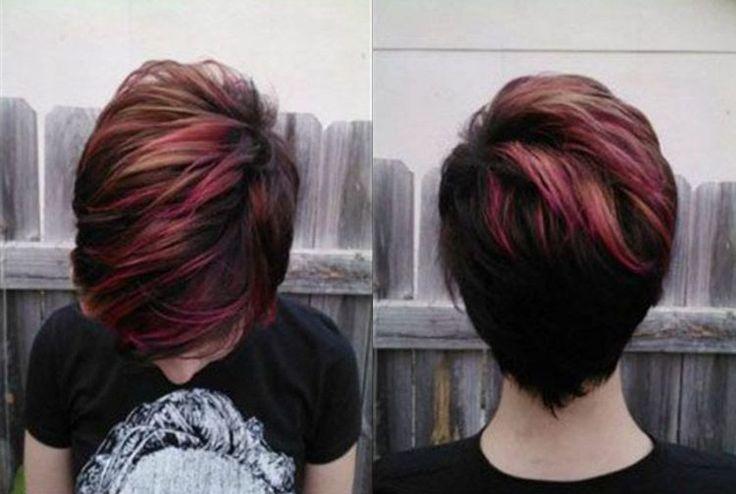 Voor vrouwen die meer kleur in het leven willen, 11 korte kapsels met niet alledaagse kleuren - Kapsels voor haar