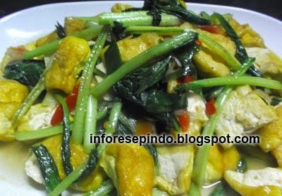 Tumis Caisim Tahu Kuning - Resep Masakan Indonesia