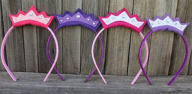 Cómo hacer diademas de fieltro para disfraces caseros de princesas - Manualidades para Carnaval y Halloween - Manualidades para niños - Charhadas.com
