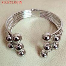 XIAONIANSHI Groothandel Indian Meisjes Bohemian Etnische Sieraden Zilver Kleur Manchet Armbanden Brede Open & armband Sieraden Voor Vrouwen(China (Mainland))