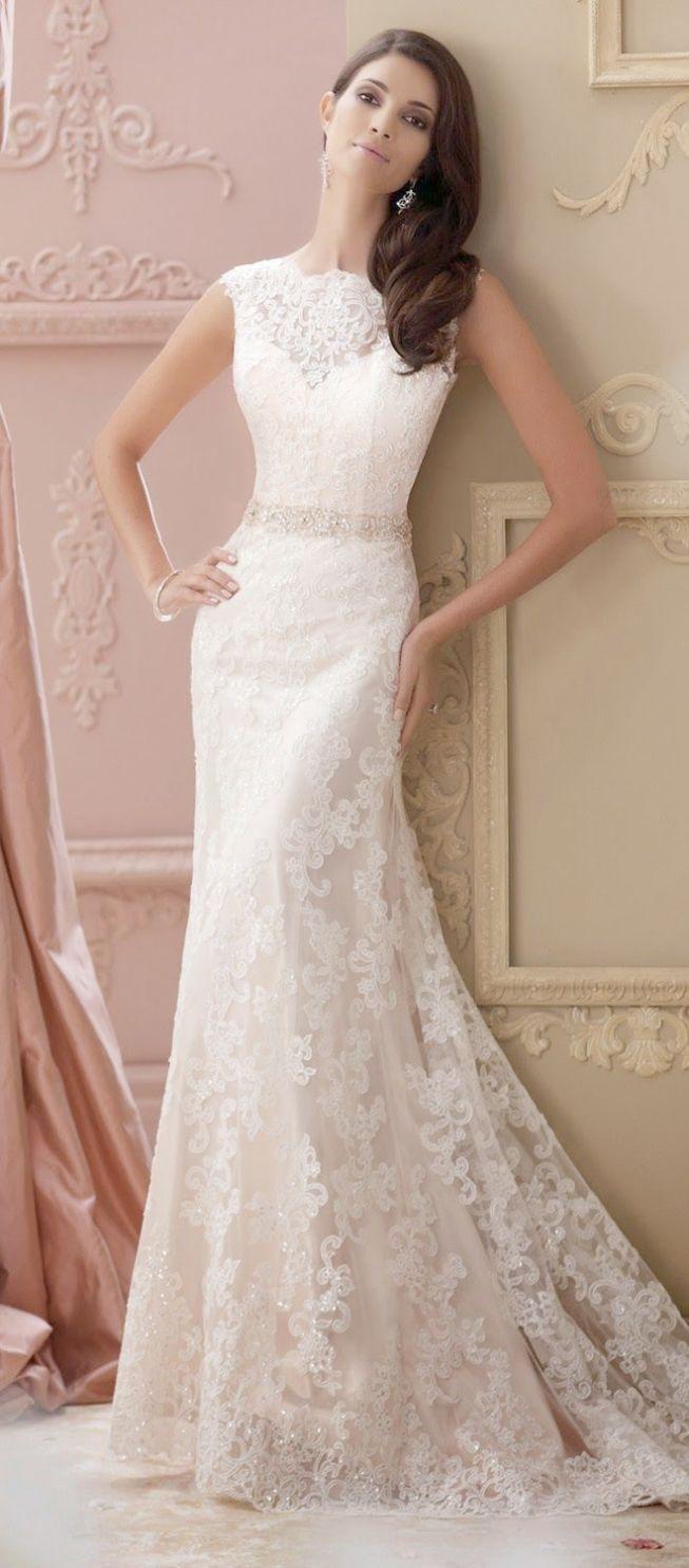 Impressive   Lace Wedding Gowns Under 20.   David tutera wedding ...
