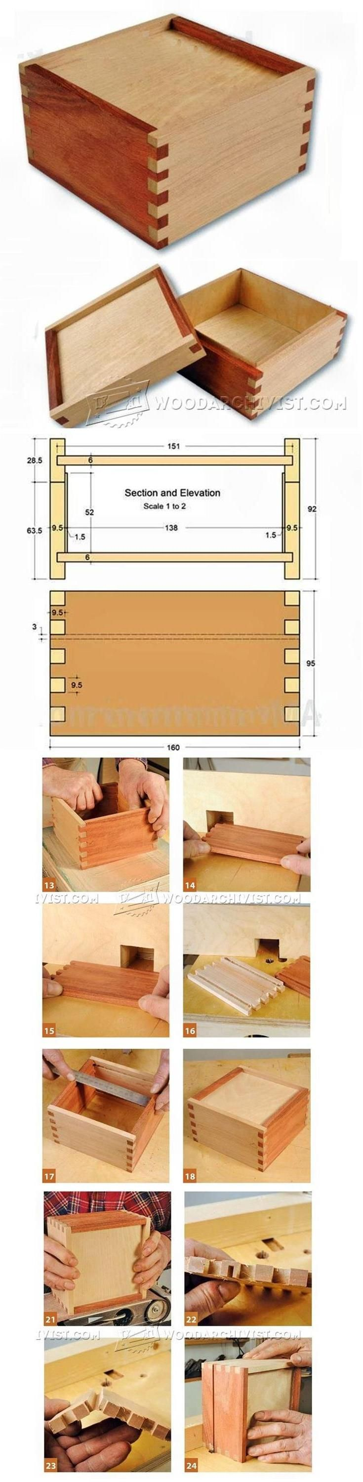 Finger Joint Box Plans - Woodworking Plans and Projects   WoodArchivist.com