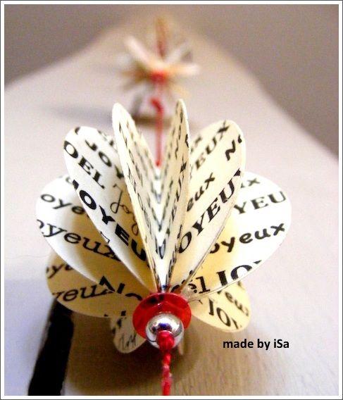 "Guirlande ""Joyeux Noel"" en papier imprimé - ""Merry Xmas"" paper garland - © made by iSa"