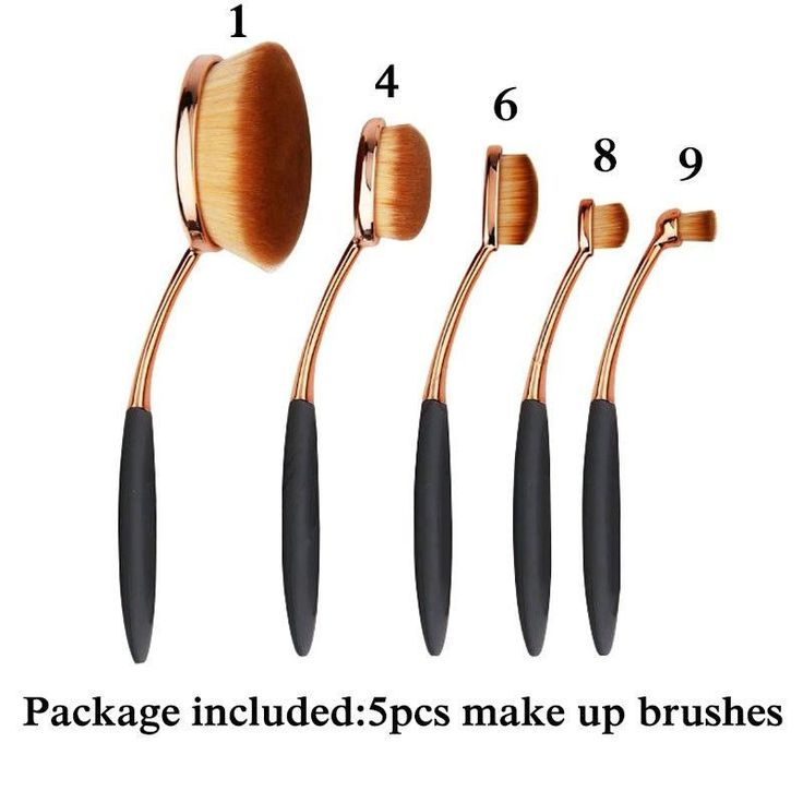 5/10 PCS Professional Oval Cream Makeup Brush Set