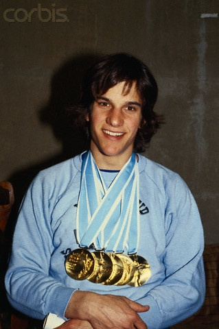 Eric Heiden!!!! I remember being at Lake Placed and watching him receive his first gold medal.