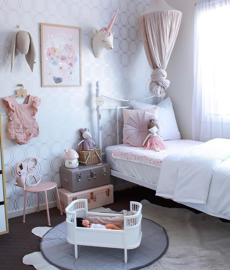 Sweet dreams from one of the most amazing girls room ever. Thanks @houseofharvee for styling our grey playmat, Alimrose Amelie doll & Piki basket. Just gorgeous!  Miniland doll also available in our store. ❤️