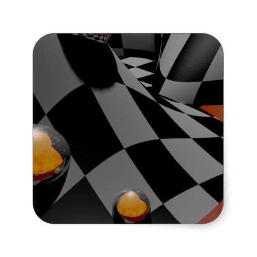 Checkered Past  2 Square Stickers