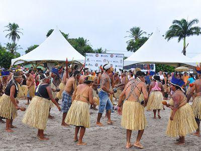 Blog Jornalista WRB: Os Jogos Indígenas da Paraíba 2013, abertura: hino nacional seguido do ritual indígena Toré
