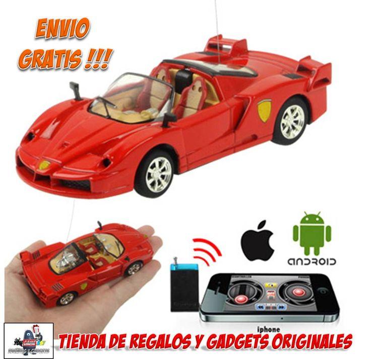 #coche #radiocontrol #teledirigido #comprar #venta #gadgets #iphone #ipad  Ya tenemos a la venta en yougamebay estos chulisimos coches de radiocontrol para manejar y controlar con el iPhone, iPad o cualquier Smartphone con Android!!! Precio desde 21.99 euros con envío GRATIS!!! http://www.yougamebay.com/es/list/category/coches_y_helicopteros_radio_control