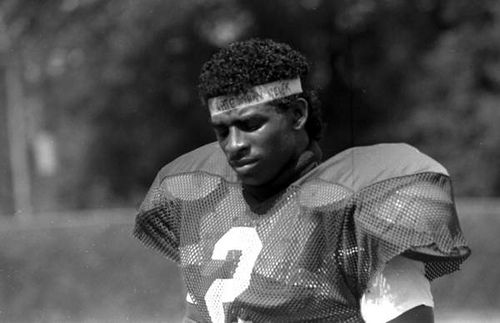 FSU football player Deion Sanders: Tallahassee, Florida, 1988