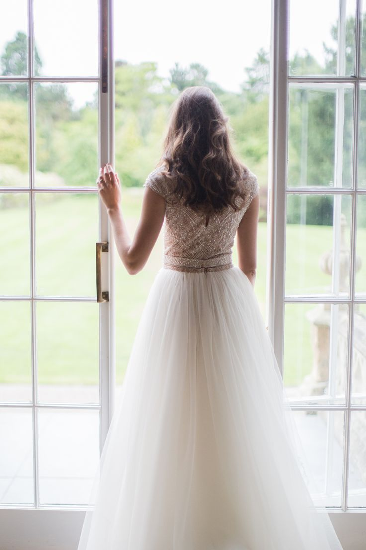 Bridal Gown with Full Skirt | photography by http://cecelinaphotography.com