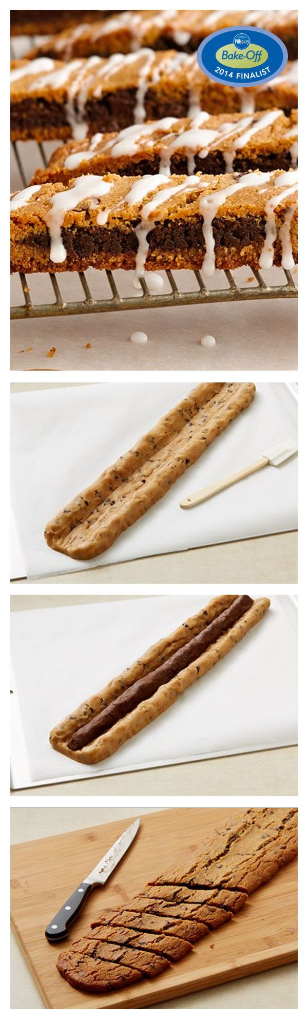 47th Bake-Off Contest Finalist: Chocolate-in-the-Middle Biscotti by Marcia Jacobovitz from Cedar Grove, NJ
