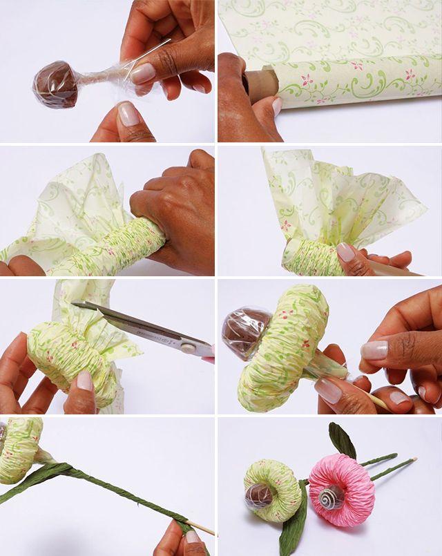 Букеты из конфет своими руками пошаговое фото для начинающих