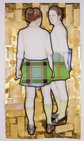 Jennifer Linton. Catholic Girls. Mixed Media. 2005. Contemporary Canadian born artist living in Toronto.