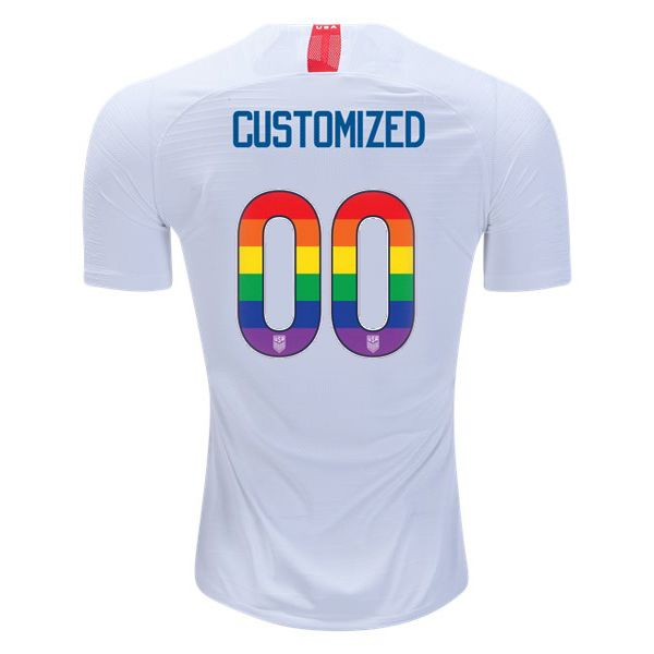 db5f707ff06 Home Customized USA Jersey 2018 2019 Men s Rainbow-Colored Numbers