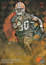 2014 Valor Football Speed #72 Isaiah Crowell - Cleveland Browns RC
