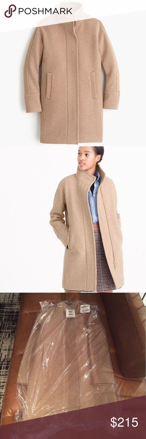 Spotted while shopping on Poshmark: J Crew Sandstone Wool Stadium Cocoon Coat 2 TALL! #poshmark #fashion #shopping #style #J. Crew #Jackets & Blazers
