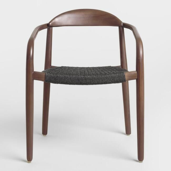 Charcoal Gray Woven Aimee Dining Chair Set of 2 - v2