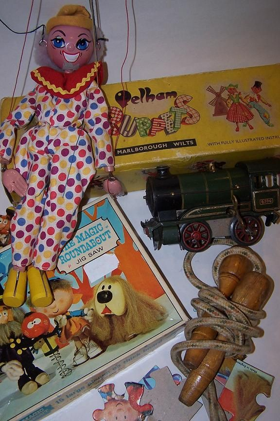 a few objects from our 1960s box. Activity kits, Memory