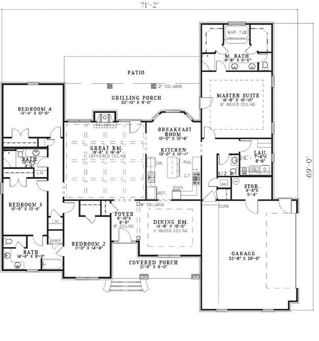 House plan 110 00649 traditional plan 2 487 square feet for 110 sq ft bedroom design