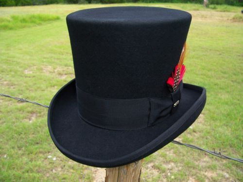 or perhaps this one.. Top Quality New Mad Hatter Victorian Dickens Caroler Slash Tuxedo Top Hat | eBay