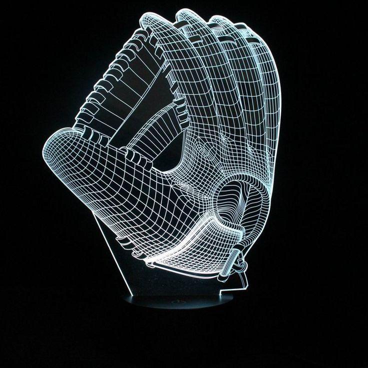3D Baseball Glove Lamp