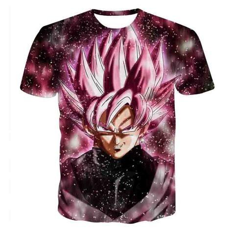 dbz goku black rose saiyan villain anime t shirt