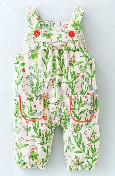 Mini Boden Print Cotton Jersey Overalls (Baby Girls & Toddler Girls) available at #Nordstrom
