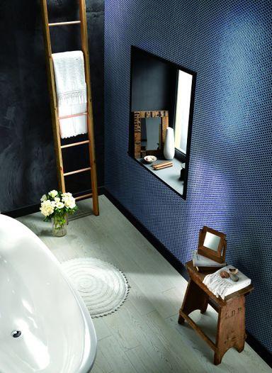 fliesen akzente im badezimmer schieferoptik im g ste wc. Black Bedroom Furniture Sets. Home Design Ideas