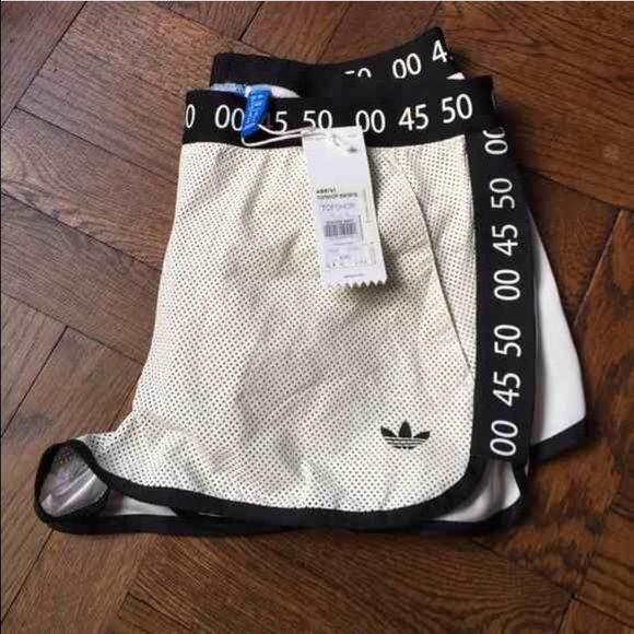 Spotted while shopping on Poshmark: Adidas for topshop leather shorts! #poshmark #fashion #shopping #style #Adidas #Pants