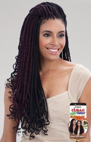 Freetress Equal Synthetic Hair Braids Double Strand Style Cuban Twist 24""