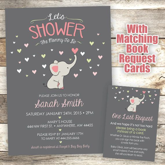 elephant baby shower invitation mommy to be shower invitation elephant invite elephant baby shower