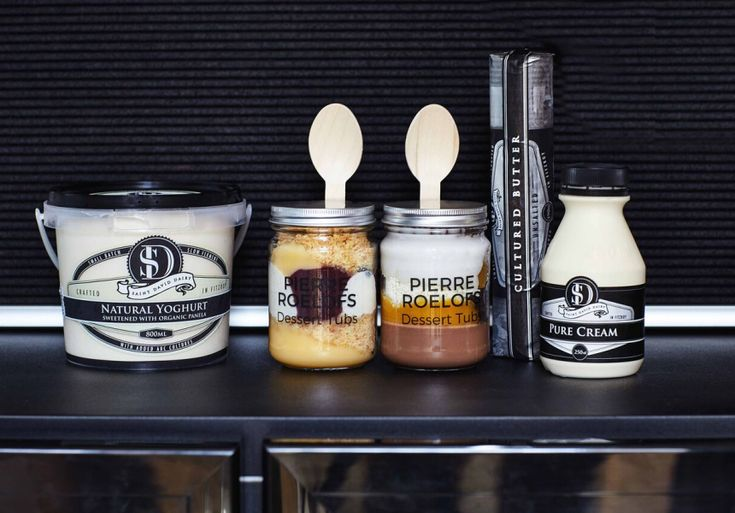 A taste of dessert degustation in a takeaway jar.
