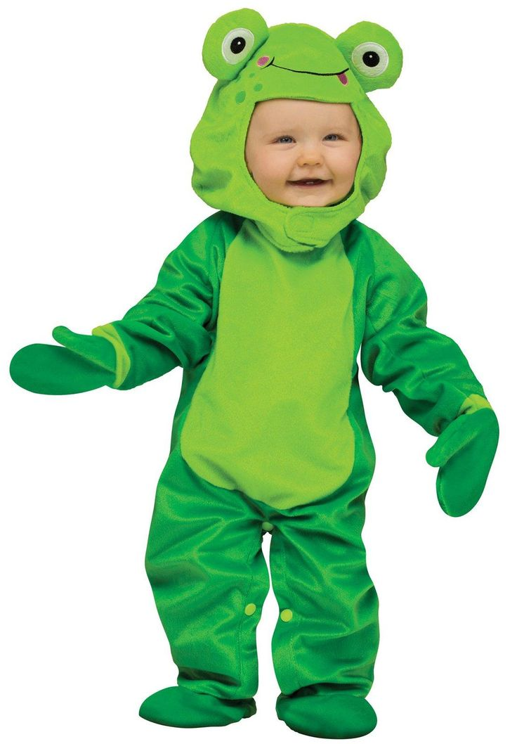 buy girls froggy halloween costume infanttoddler size months fun world girls froggy toddler halloween costume includes a green snap close inseam - Where To Buy Toddler Halloween Costumes