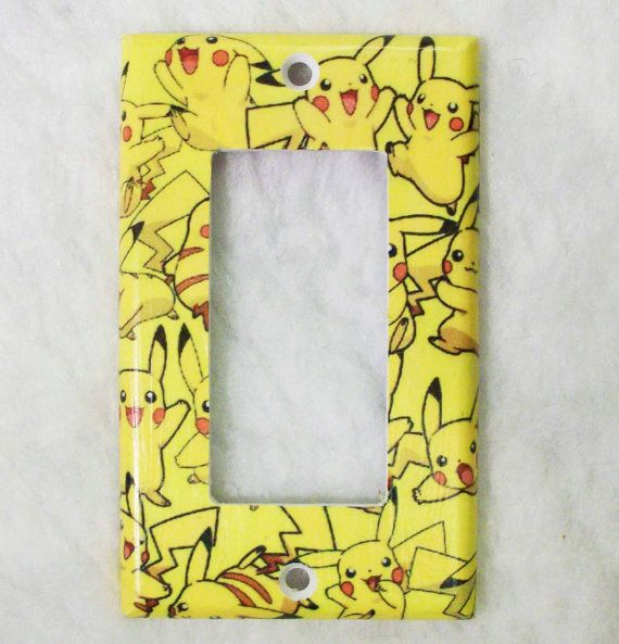 Pikachu Pokemon Yellow Toggle Light Switch by ZombieLoveSquad, $6.00