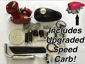 **Race RED** 2014 Model 66/80cc Bicycle Engine Kit, for Motorized Bicycle - RED