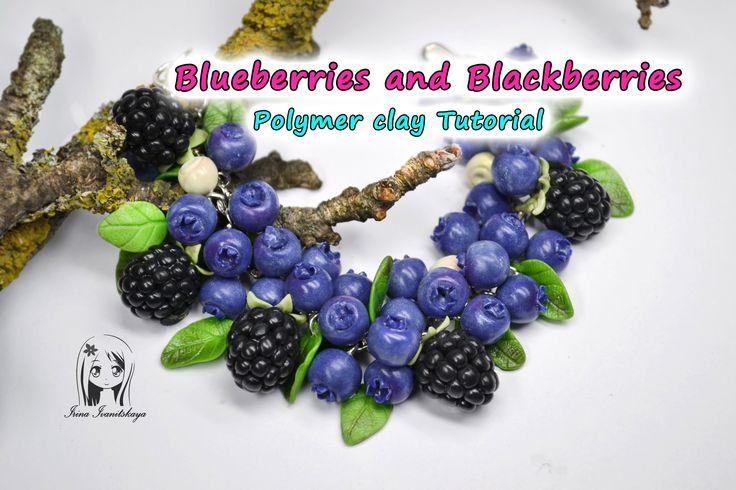 Bracelet Blueberries and Blackberries ✿ Polymer clay Tutorial