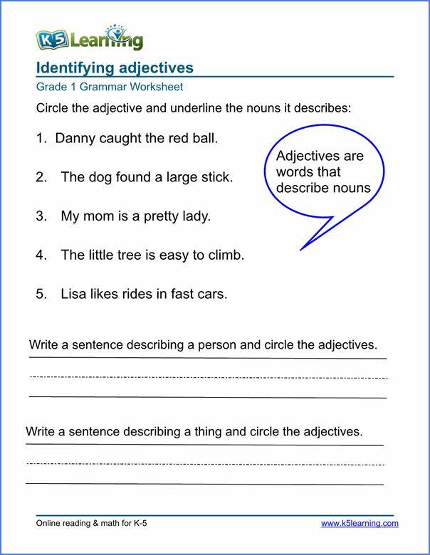 Adjectives Worksheet Esl Ell Eal Adjective Worksheet Grammar Worksheets 2nd Grade Worksheets