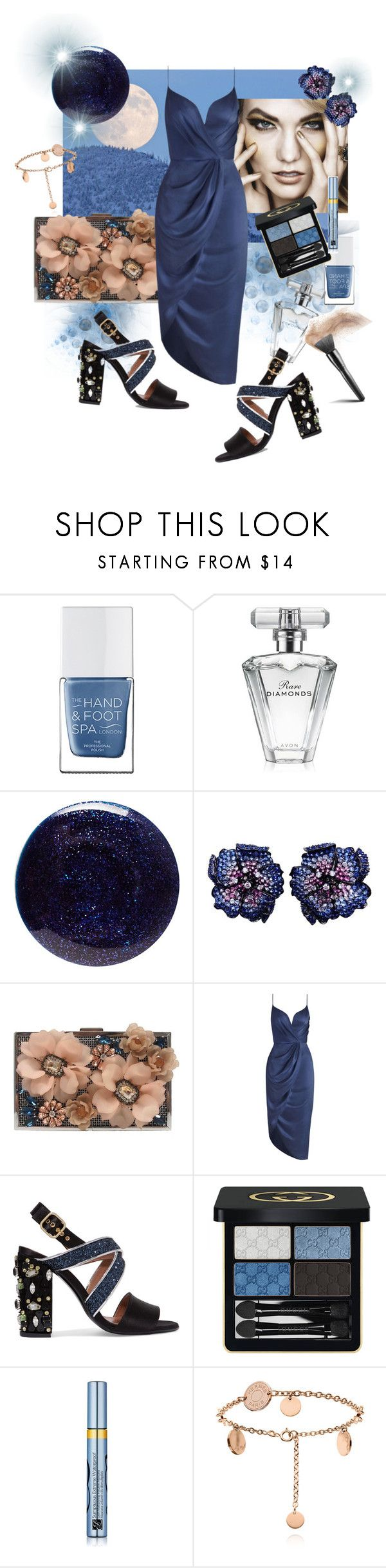 """So Blue, So Sexy"" by ohnoflo ❤ liked on Polyvore featuring The Hand & Foot Spa, Avon, Lauren B. Beauty, La Fleur Jewels, Sondra Roberts, Zimmermann, Marni, Gucci, Estée Lauder and chloe"