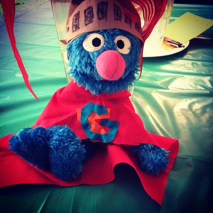Made this to cheer up my mom in less than an hour? Ain't my Super Grover cute?