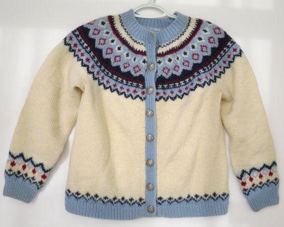 Vintage Lulle Otterstad Norwegian 1960s 100% Wool Sweater by SnowandHistory