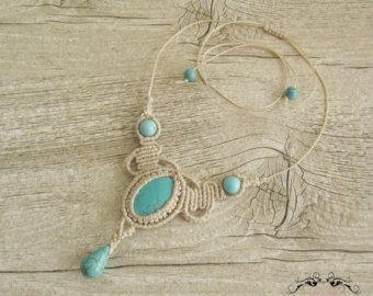 Micromacrame Necklace Tutorial Tassel Pendant by RaquelsBeaDesigns
