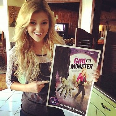 """Olivia Holt Shows Her Excitement For Her Upcoming Movie """"Girl VS. Monster""""! (@Olivia_Holt)via @alexisjoyvipacc on TWITTER// alexisjoyvipaccess on FB// www.alexisjoyvipaccess.com"""