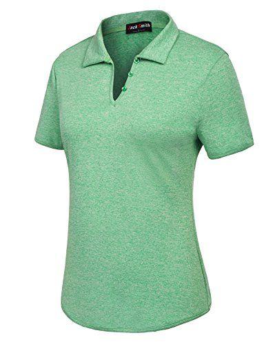 Jack Smith Women s Short Sleeve Sports Moisture-Wicking Polo Shirt T-Shirt  Tops 91010adc0