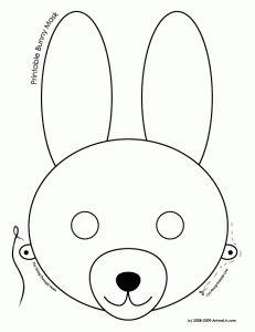 Printable Bunny Mask Coloring Page