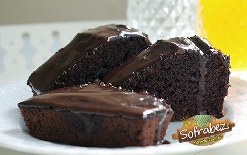 Çaylı kakaolu ıslak kek tarifi (sosu yumurtasız)