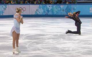 Dupla russa faz a melhor apresentação do dia na patinação artística