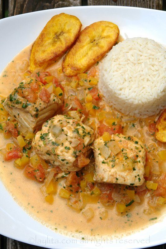 Encocado de pescado/ fish with coconut sauce  ***TRYING IT WITH TOFU OR TEMPEH OR ANOTHER PROTEIN SOURCE TO MAKE IT VEGAN***