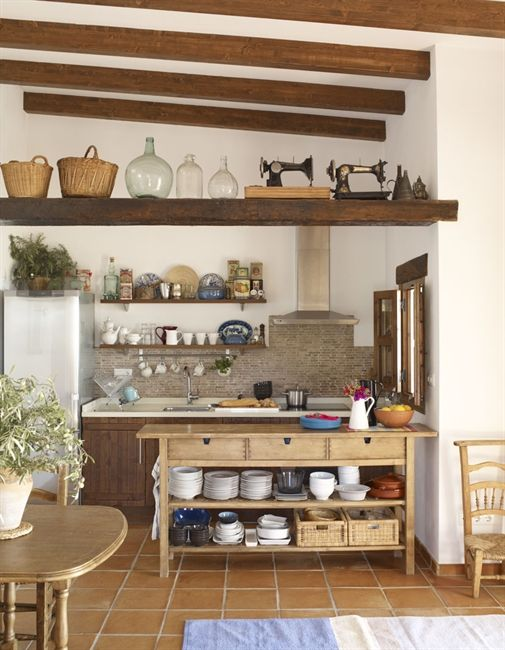 A Kitchen Island Gives Extra Space To Prepare Food And The Shelves Underneath Are Great For