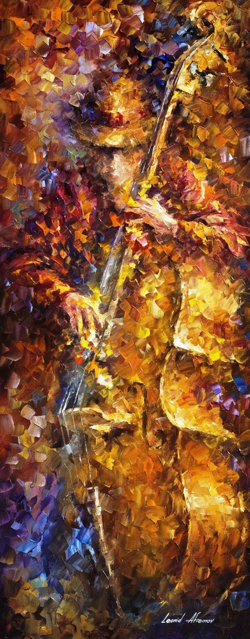 The Sounds Of Bass ORIGINAL music oil by AfremovArtStudio on Etsy